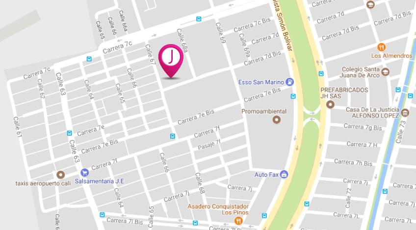 mapa de ubicacion de janny